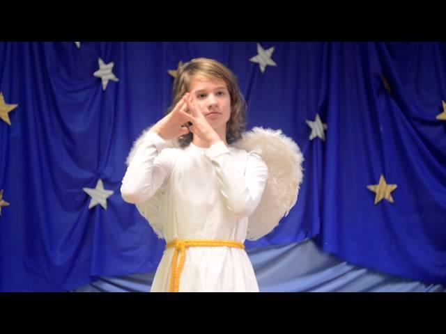 Kolęda Anioł pasterzom mówił w języku migowym