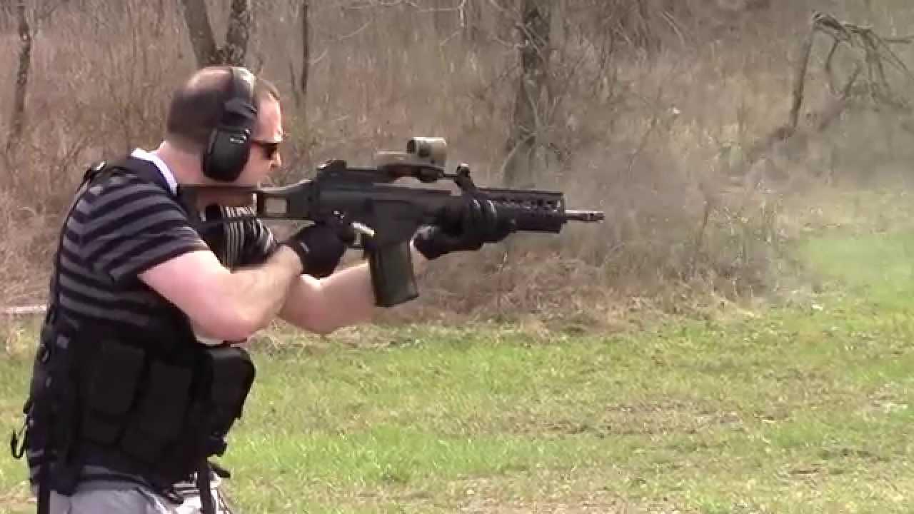 shooting heckler amp koch g36 youtube