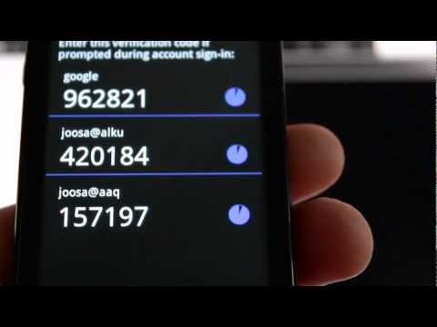 Time based one time password demo google authenticator youtube