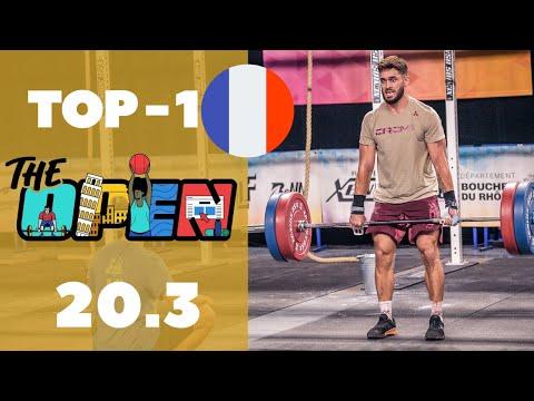 TOP 1 FRANCE sur l'open 20.3 CROSSFIT (vidéo + commentaire) avec Florent Paillasson