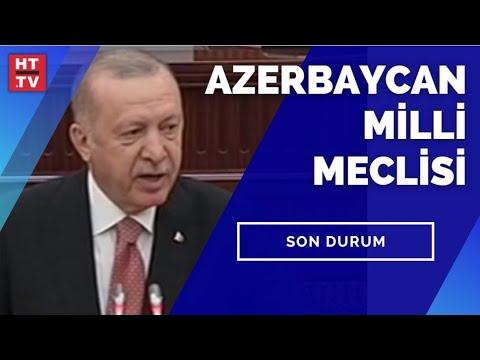 Cumhurbaşkanı Recep Tayyip Erdoğan, Azerbaycan Milli Meclisi'ne hitap ediyor #CANLI