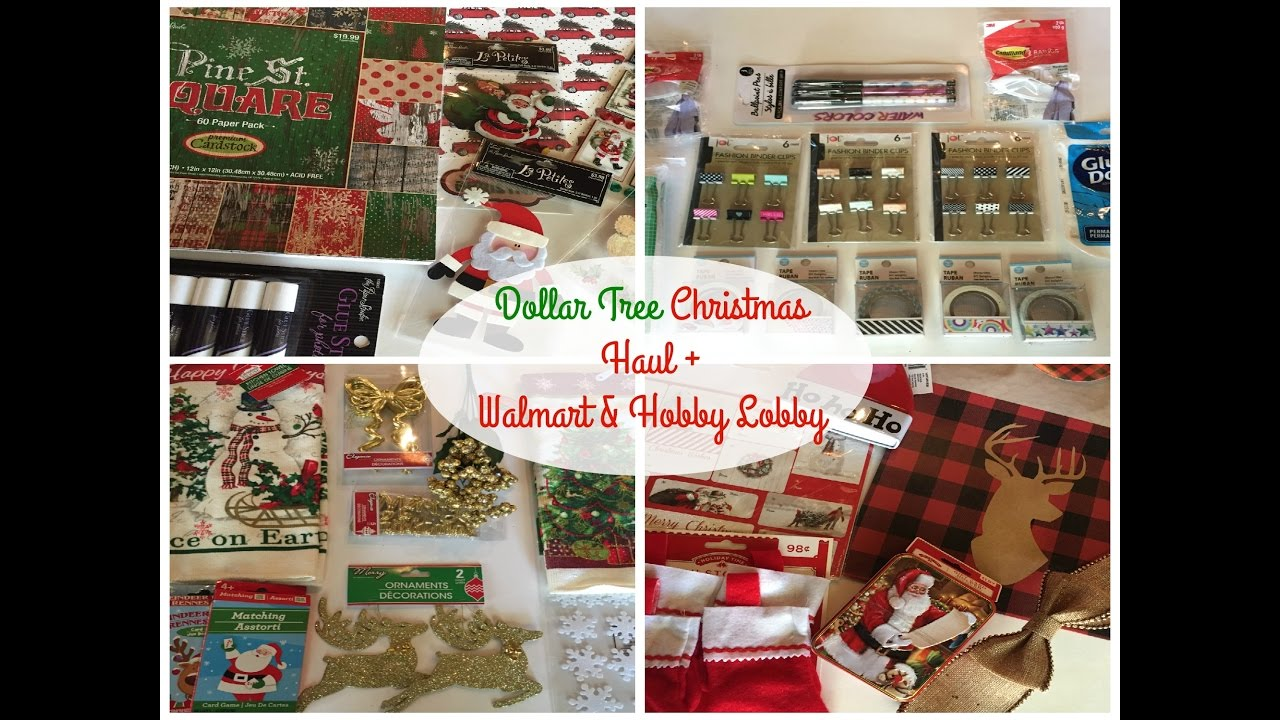 dollar tree christmas haul walmart hobby lobby youtube - Hobby Lobby Christmas Wrapping Paper