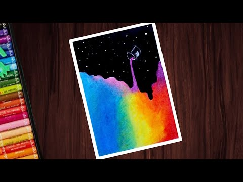 Beautiful Abstract Drawing With Oil Pastels For Beginners Step By Step Oil Pastels Drawing