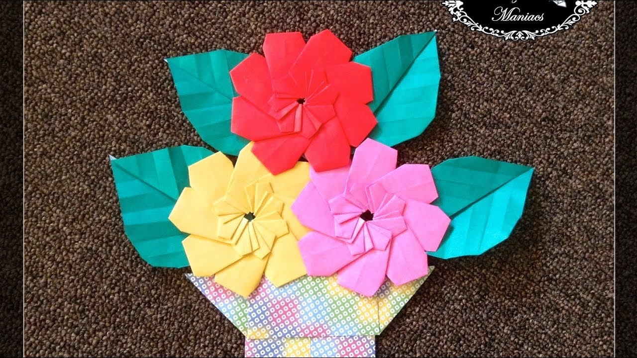 Origami Maniacs 261 8 Petal Flower Youtube
