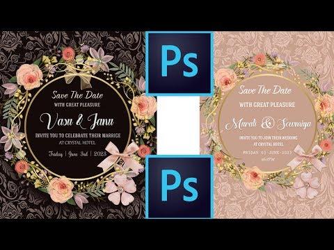 How To Create Wedding Invitation Designs In Photoshop | Studio MS