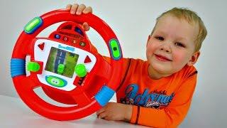 Смешные видео для детей: бабушка за рулем.