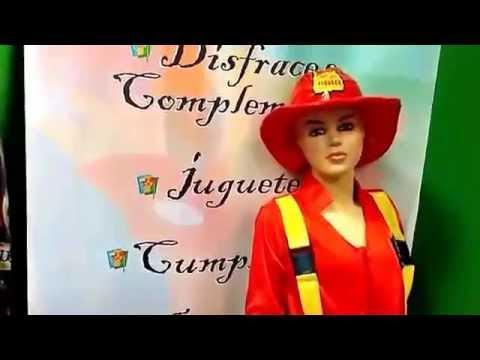 Disfraz de bombera infantil