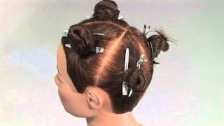 Удлиненное каре слоями на манекене - видео-урок