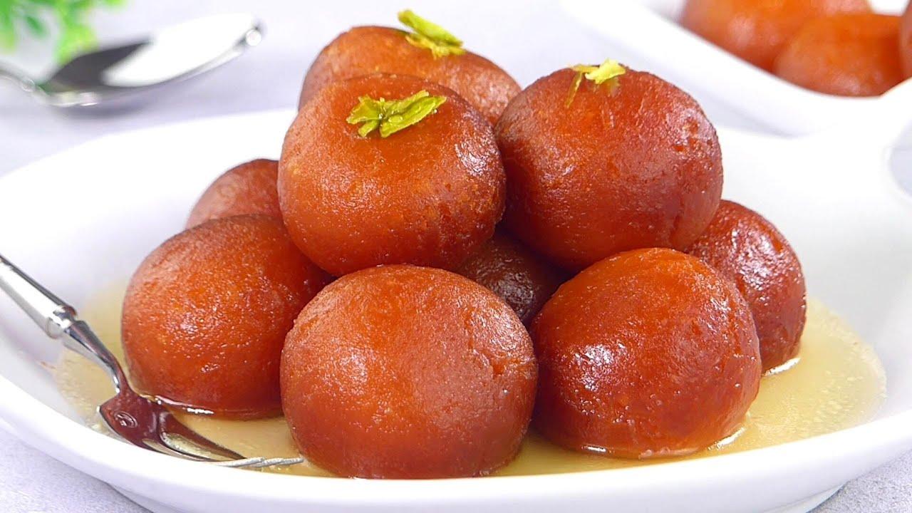 Gulab Jamun Recipe Eggless & without Mawa | Easy Golabjamun sweet, Golap jam, Lalmohon Mishti Recipe