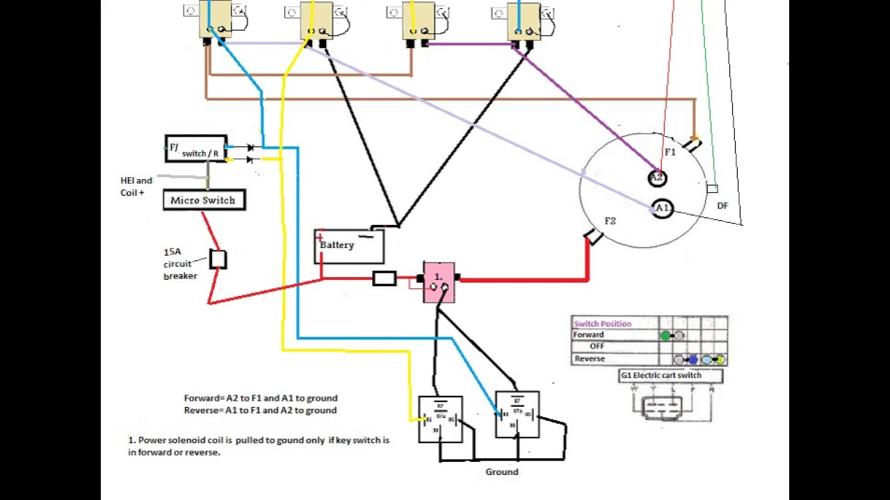 Working wiring diagram using Yamaha FR switch  YouTube