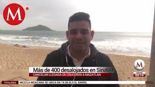 Más de 400 desalojados por 'Willa' en Sinaloa