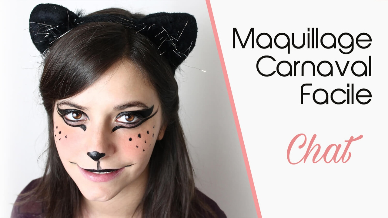 Maquillage carnaval facile chat youtube - Maquillage chat femme ...