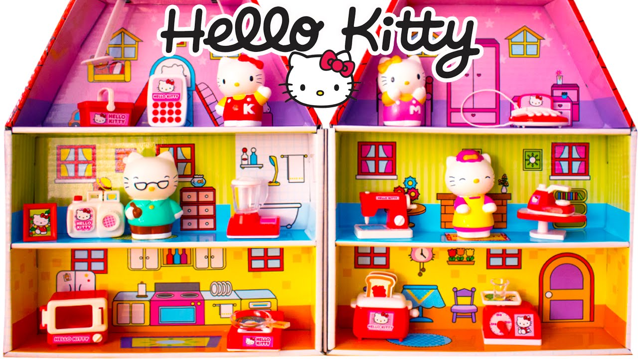 Hello Kitty House hello kitty mini doll house playset hello kitty sanrio review