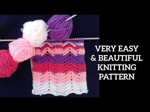 f3f3d64a1 Multicolour में बहुत ही आसान बुनाई डिजाइन. Seven shades knitting