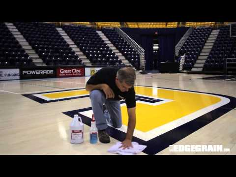 Cleaning a Gym Floor