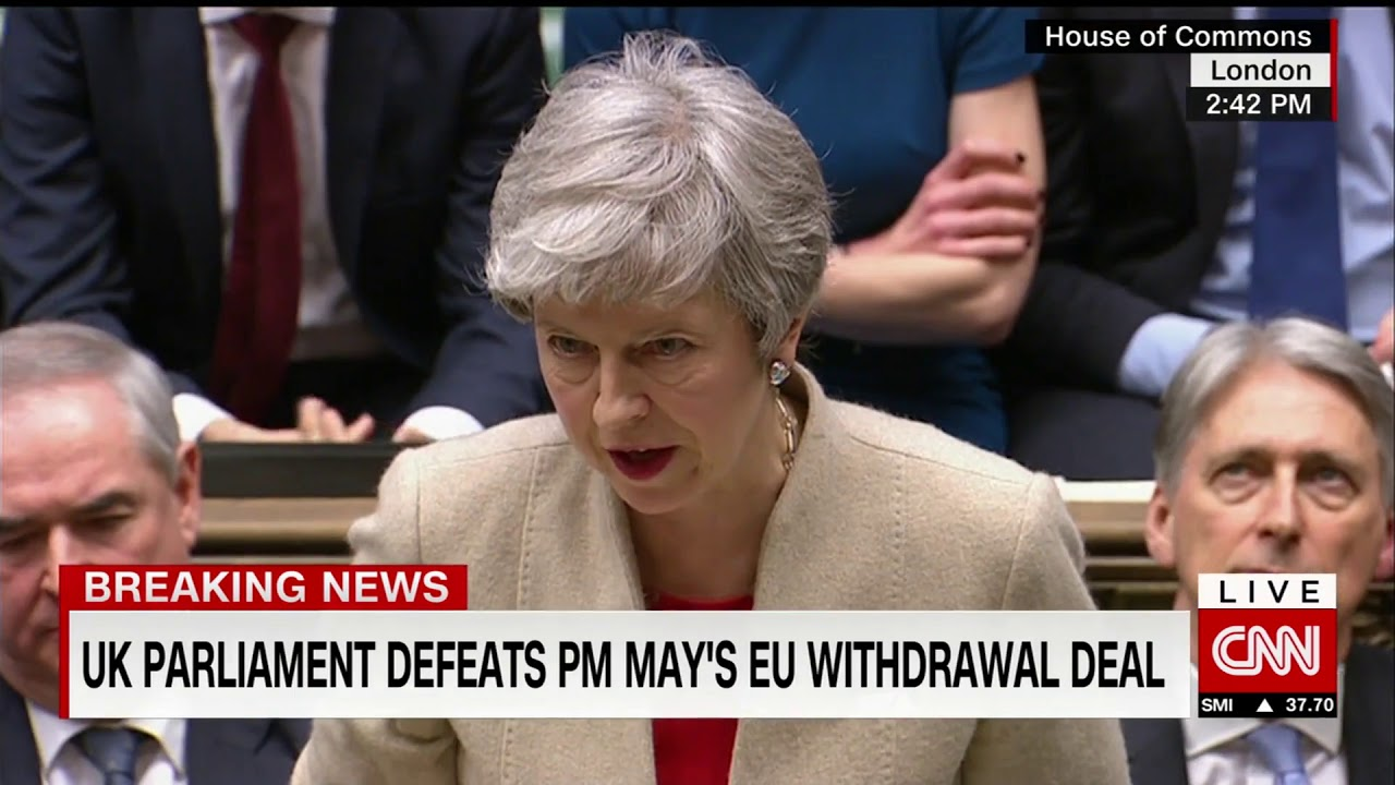 Watch Theresa Mays response to defeat