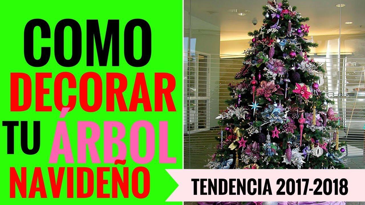 IDEAS COMO DECORAR TU ÁRBOL DE NAVIDAD MODELOS Y TENDENCIAS 2017