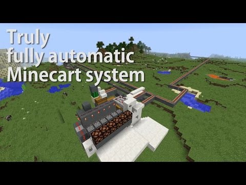 Minecraft: Fully Automatic Minecart System