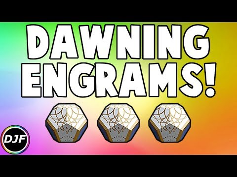 Destiny 2: New Dawning Engrams! | 15 Dawning Engram Opening!