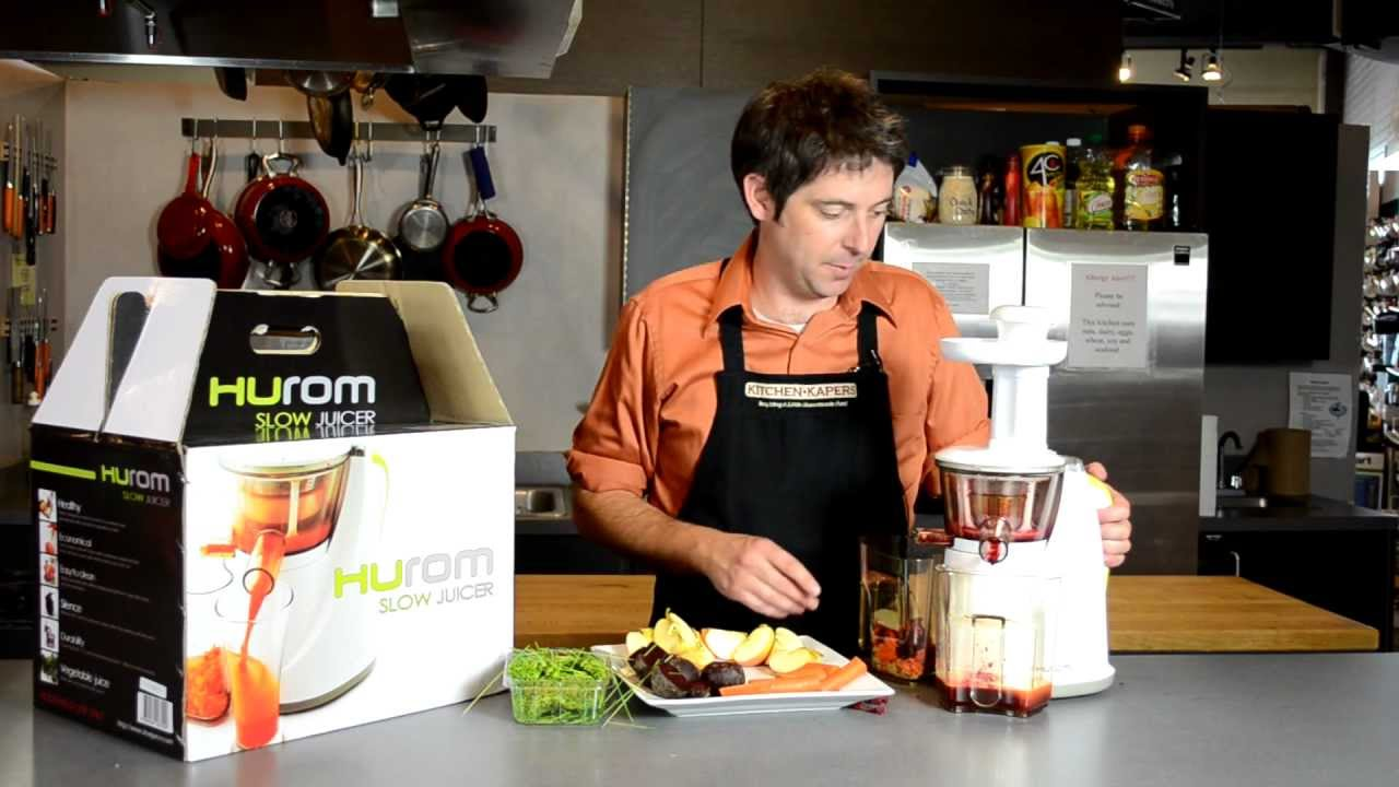 Hurom Slow Juicer - Demonstration - YouTube