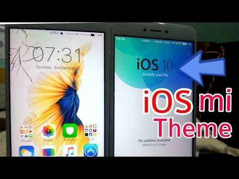 Best iOS theme for Redmi Note 4 and other mi devices