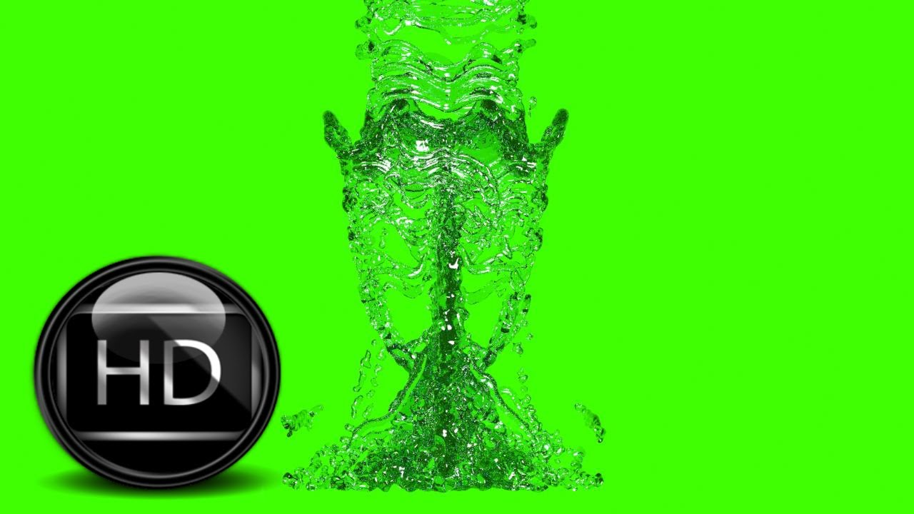 water in green screen free stock footage 280 400 particles hd