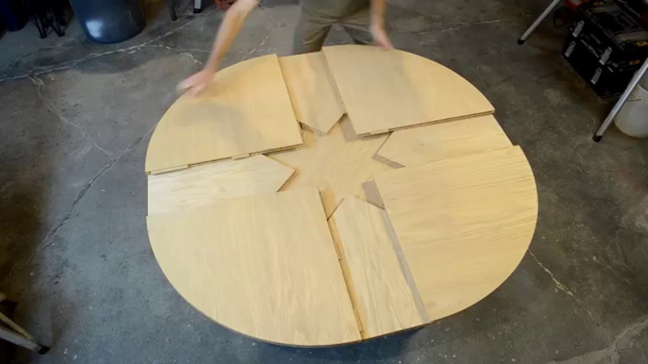 Wooden expanding table youtube - Table ronde extensible ...