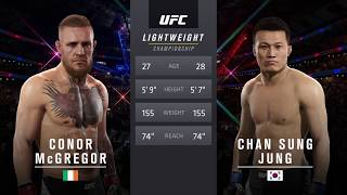 UFC 코너 맥그리거 vs 정찬성