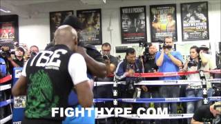"""(WOW!!) FLOYD MAYWEATHER HAS HARSH WORDS FOR ADRIEN BRONER; RESPONDS TO """"FUCK TMT"""" COMMENT"""