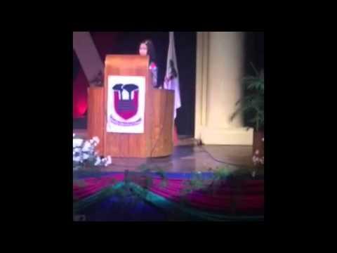 Princessela Marie Cruz Triviño's Valedictory Speech