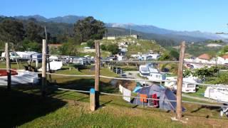 Vistas del Camping La Paz (Llanes-Asturias)