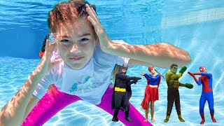 ناستيا تريد السباحة في حوض السباحة , تعلم ارشادات السلامة في برك السباحة