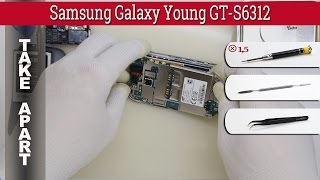How to disassemble 📱 Samsung Galaxy Young GT-S6312, S6310, S6310L Take apart Tutorial