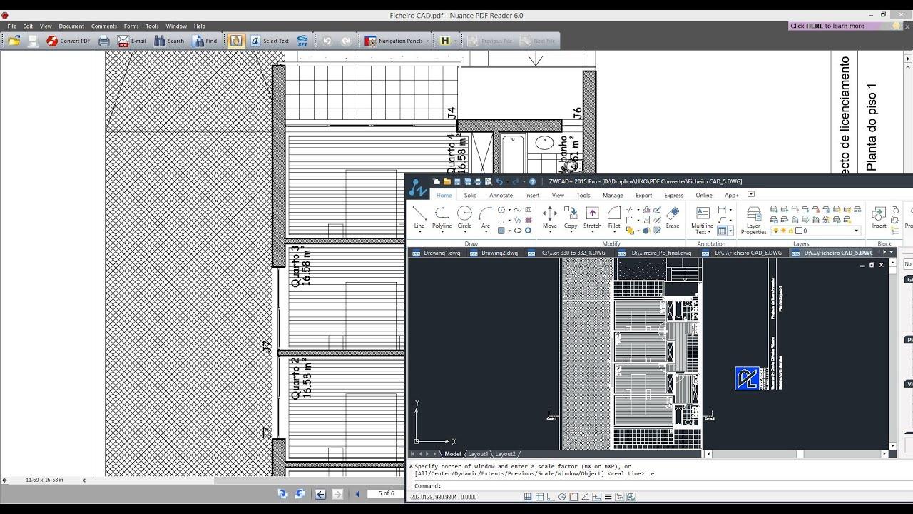 Como converter ficheiros PDF para o formato  DWG utilizando o ZWCAD,  Software CAD
