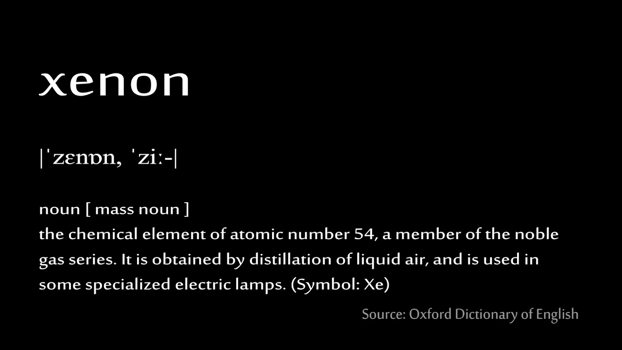 54 xenon how to pronounce chemical elements periodic table - Periodic Table Zi