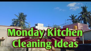 My Monday  kitchen cleaning routine tips Kitchen Cleaning Routine Tips/Kalaivani's Kichen