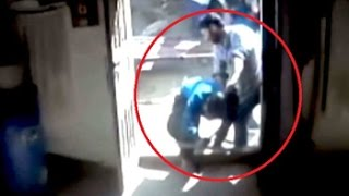 Caught on camera: Widow, four daughters beaten up brutally at their home