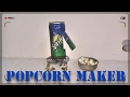 How to make popcorn machine at home by sprite can