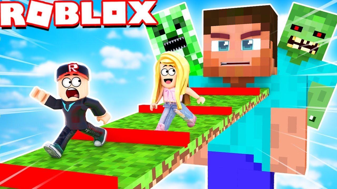 Minecraft W Roblox Obby Uciekamy Z Minecrafta Vito Vs Bella