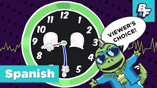 How to tell time in Spanish with BASHO & FRIENDS - ¿Qué hora es?