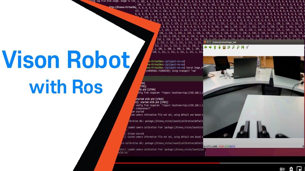 [위고코리아] ROS를 이용한 Camera 2D/3D Vision 로봇팔 Demo - KINOVA Gen3 (4차산업 기술)