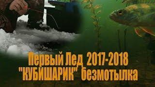 Зимняя рыбалка/Первый Лед 2018-2018. Ловля Окуня зимой на БЕЗМОТЫЛКУ. Подводные съемки.