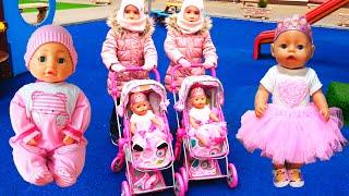 Куклы беби бон Bambolina Настя и новые куклы Ксюша и Арина Как Мама Видео для детей /Magic Twins