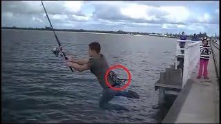 Подборка приколов! Рыба тащит рыбоков за борт