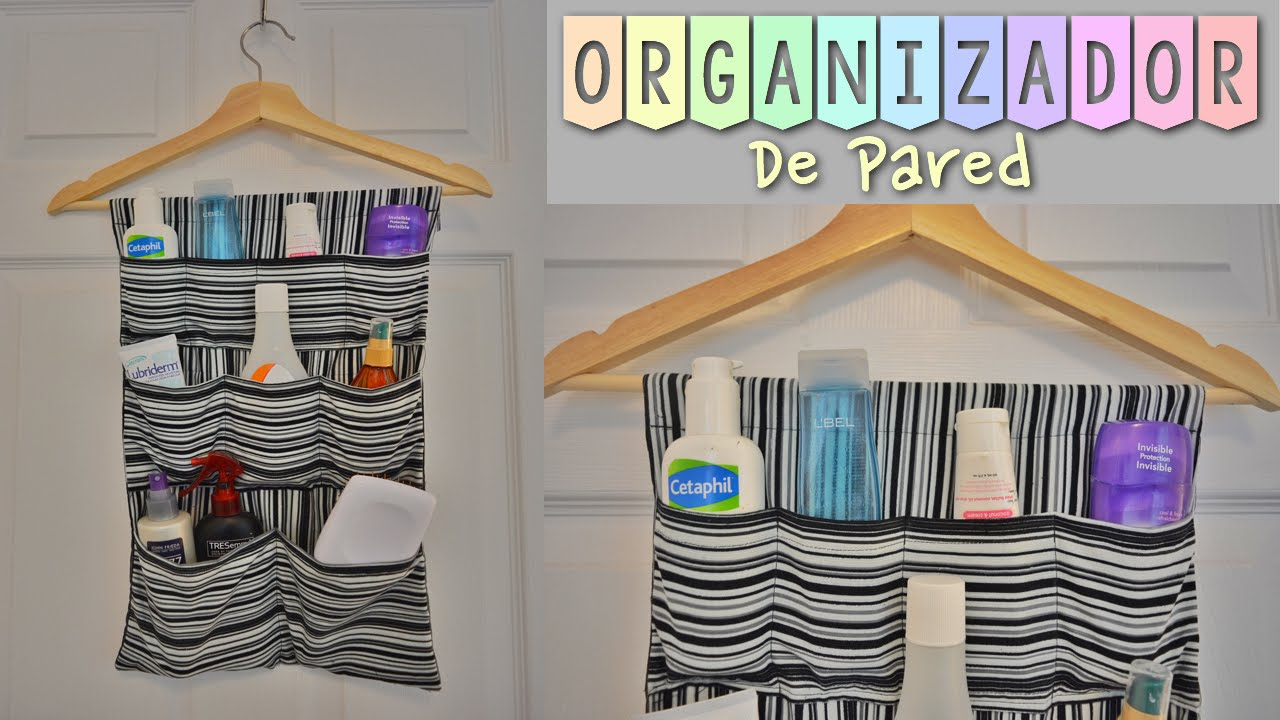 Diy como hacer un organizador de pared tutorial - Como colgar una manta en la pared ...