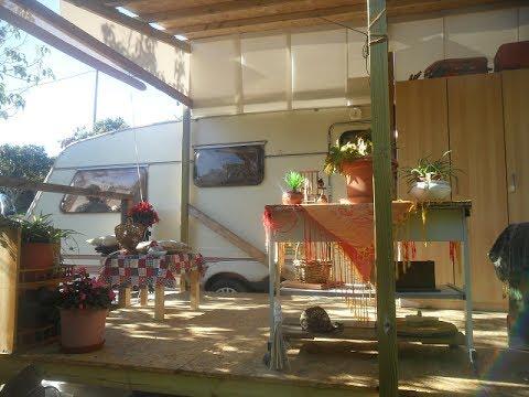 Como hacer porche de madera para caravana casa rodante how for Bar rodante de madera