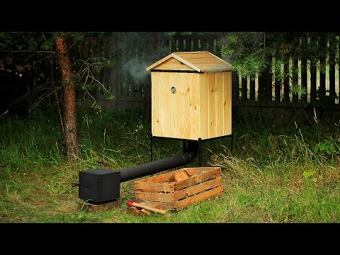 Wooden Smokehouse by Metal Works - BBQ, Camping Stove - 100% Handmade! Wędzarnia Ogrodowa Drewniana.