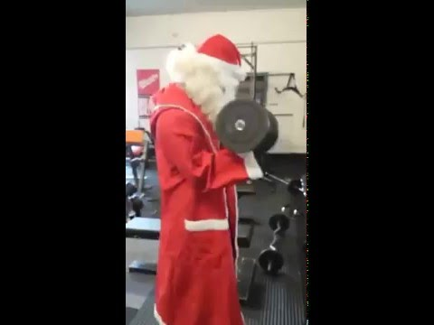Fitness Bodybuilding pumping Christmas ! merry xmas to all!