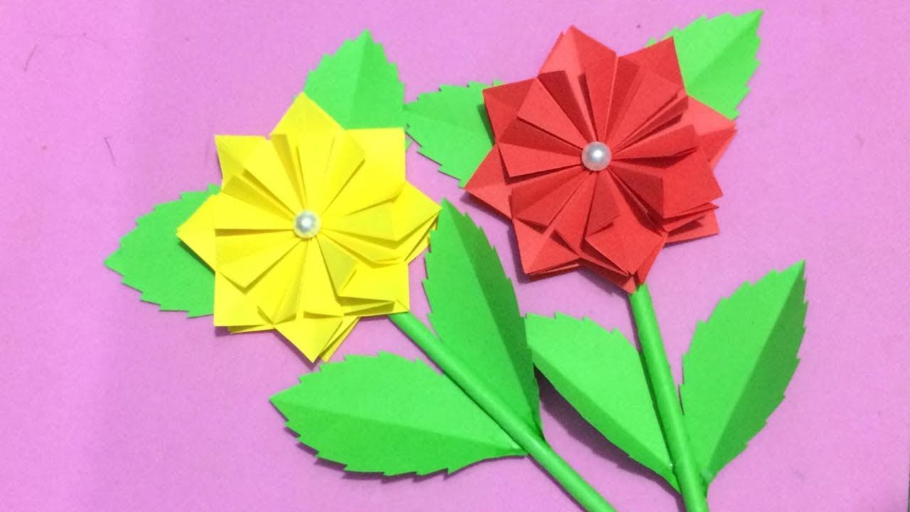 How To Make Origami Flower Making Paper Flowers Step By Step Diy