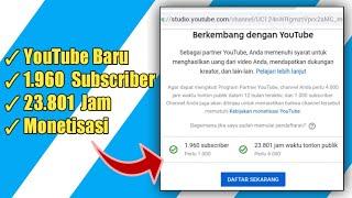 Cara Menambah Subscriber YouTube   1000 Subscriber Dan 4000 Jam Tayang
